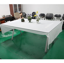 AGPtek Disposable Plastic Table Cover 54 by 108 Inch 137cm * 274cm - White