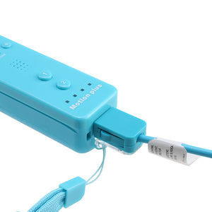 AGPtek Blue Built-in Motion plus Remote + Nunchuck for Wii
