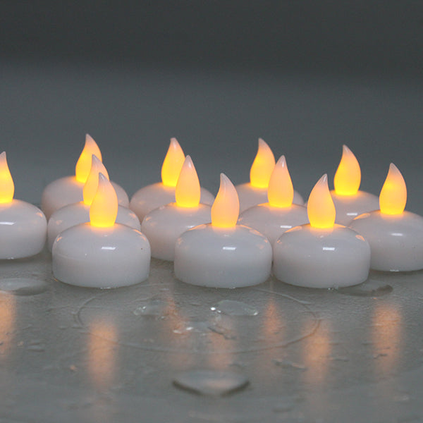 AGPtek Lot 12 LED Floating Tea Waterproof Wedding Party Floral Decoration flameless Candle