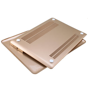 "3in1 Rubberized Hard Case Champagne Gold Laptop Shell + Keyboard Skin + Screen Protector for Apple Macbook Pro 13"" 13.3"" (no Retina) A1278"