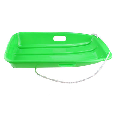 Winter durable Plastic snow Sled in boat shape Snow Sledge for child and adult Outdoor Pulling Snow board Snow Seats 65*36*10.8CM/25.6*14.2*4.3 inch green color