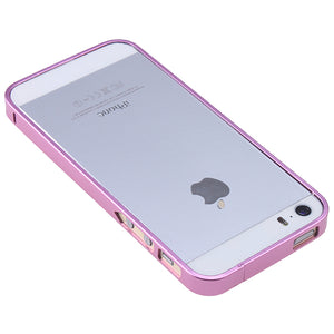 Ultra-thin 0.7mm Aluminum Metal Bumper Case Bezel Frame Pink for iPhone 5S 5G 5 No Screw Needed