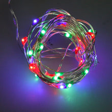 AGPtek Durable 50 individual LED String Lights Waterproof Ultra Thin Copper Wire Starry Light 5M/16.5FT For Wedding Christmas Party Holiday Halloween, Decoration, Powered by: 3AA battery(not included)- Multi-color RGB Color