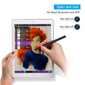 Digital Active Stylus Pen Pencil For iPad Android TouchScreen Fine Tip 1.5mm