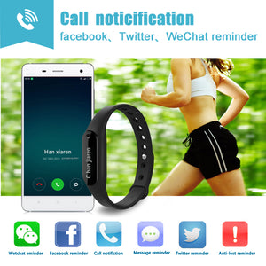 AGPtek Smart Fitness Activity Tracker with Heart Rate Smart Watch Wristband Bluetooth for Android and IOS