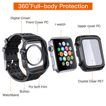 44mm Full Cover Clear Case Screen Protector with Bands For Apple iWatch 4 5