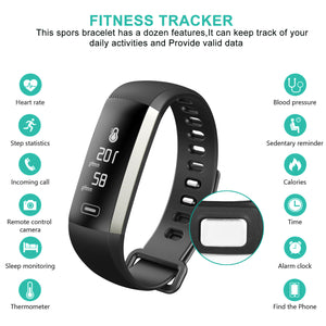 Smart Watch Wrist Band Bracelet Fitness Sports Trackers Waterproof For Android iOS