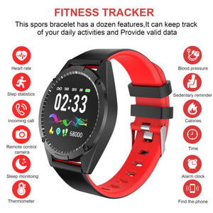 Smart Watch Heart Rate Monitor Fitness Tracker Wristband for iOS Android Phone