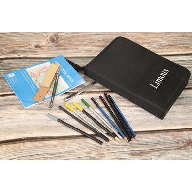 Limous 53pcs Drawing and Sketching Pencil Set, with Pencil, Watercolor Pencil, Sketching Pencil Set & Canvas Zipper Case, Ideal for Artists, Sketchers, Teachers & Students