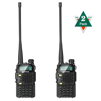 2pack Walkie Talkie UV-5R5 VHF/UHF Dual Band Two Way Ham Radio Transceiver New