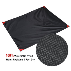 Packable beach Blanket Pocket Size water resistant Picnic Blanket Camping Lightweight