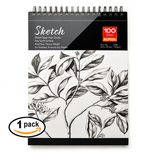 "2 Pack Spiral Sketch Book 9X12"" Pad 100 Sheets Drawing Paper Pencil Pastel New"
