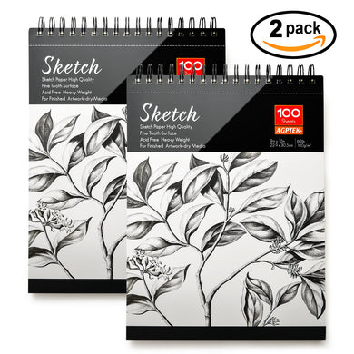 2 Pack Spiral Sketch Book 9X12