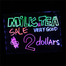 "16x12"" LED Flashing Illuminated Erasable Neon Sign Remote Message Menu Writing"
