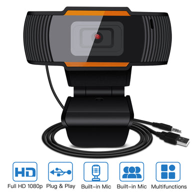AGPTEK HD 1080P Webcam Auto Focusing Web Camera Cam W/ Microphone For PC Laptop Desktop