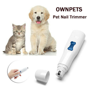 Pro Pet Dog Cat Nail Trimmer Grooming Tool Grinder Electric Clipper Kit
