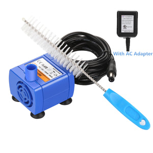 Ownpets Brush Cleaning&Water Pump Kit for Pet Drinking Dispenser Cat And Dog Water Fountain AC 12v~50HZ/60HZ Suitable for Onwpets Catit Drinkwell