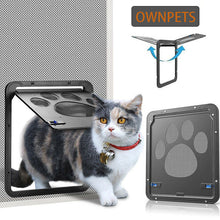 Pet Dog Cat Small Screen Locking Flap Door Magnetic Automatic Slide Protector