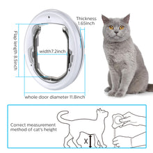 Lightweight Flap Pet Door Cats Small Dogs Anti-Insects Quiet Magnet Locking Gate