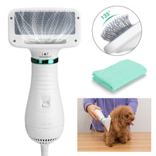 2 In 1 Pet Hair Dryer Blower Slicker Brush Portable Dog Cat Grooming Low Noise