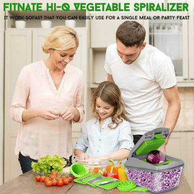 Upgraded 14pcs Vegetable Spiralizer Mandoline Slicer Dicer Food Chopper Cutter