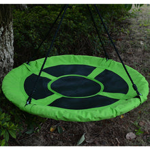 40 in Outdoor Tree Swing Chair Kids Round Hanging Rope Tire Saucer Seat Yard Mat