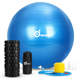 3-In-1 Yoga Ball Muscle Massage Trigger Point Foam Roller Kit Fitness Exercise