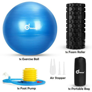 Sports Yoga Ball Foam Roller Resistance Bands Loop Kit Fitness Muscle Training