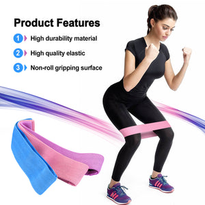 3pcs Resistance Loop Bands Yoga Pilates Sports Gym Glutes Hip Legs Training Set