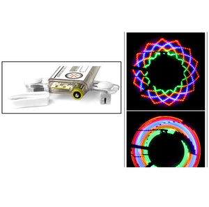 Colorful Rainbow 32 LED Wheel Signal Lights for Cycling Bikes Bicycles Outdoor