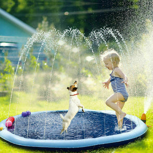 170cm Splash Play Mat Inflatable Outside Water Toy Sprinkler Pad Kid Toddler Dog