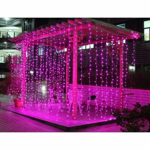 300LED Pink Fairy Curtain String Lights with Controller Christmas Wedding Party 8 Modes