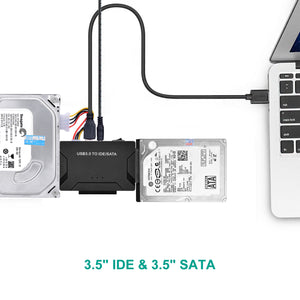 "USB 3.0 to 2.5'' 3.5"" IDE SATA Converter Adapter External Hard Drive Cable Kits"