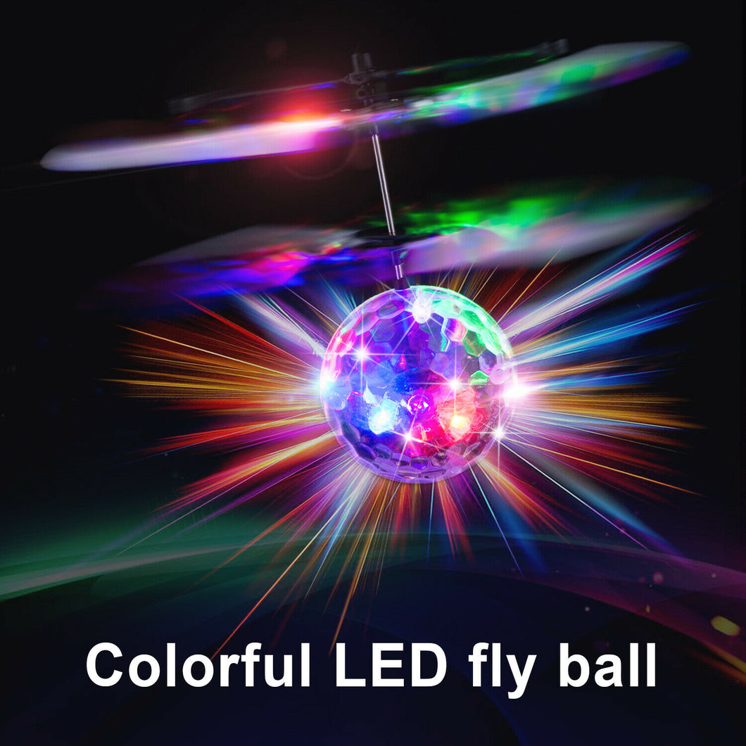 RC Flying LED Ball Helicopter Drone Magic Disco Ball Light Infrared Induction