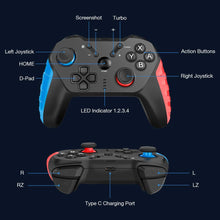 Multicolor Wireless Switch Controller for Nintendo, Bluetooth Switch Pro Controller for Nintendo with Auto-Fire Turbo,Motion Control,Dual Shock for Nintendo Switch Controller&PC Game .