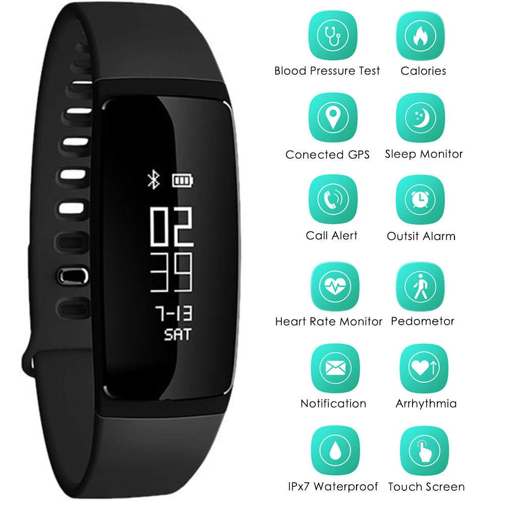 Fitness Tracker Smart Bracelet Wristband Watch Call Reminder Bluetooth Touch Screen