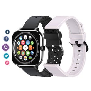 1.28'' Touch Screen Smartwatch Handsfree Bluetooth Sport Fitness Tracker Heart Rate Monitor