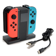Agptek 4-in-1 Nintendo Switch Joy-Cons Charging Station, Professional Charging Dock and Store Stand with LED indicator, Charge Up to 4 Joy-Cons, 1.2M TYPE-C USB Cable included, Gray
