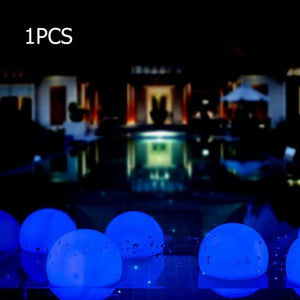 Deco Ball LED Color Floating Ball, Mood Light Garden Great for Pool, Ponds and Parties 8cm/3 inch