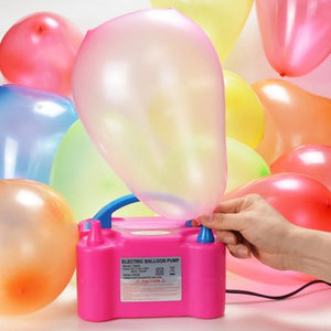 AGPtek Portable High Power Air Electric Balloon Pump with Two Nozzle Rose Red