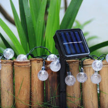 AGPtek 19.7Ft 30 LED Crystal Ball Solar Powered Outdoor String Lights Warm White