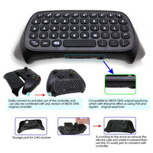APGtek 2.4G Mini Wireless Chatpad Message Keyboard for Xbox One Controller - Black
