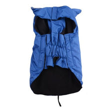 AGPtEK Waterproof Nylon Dog Winter Coat Jacket for Large Dogs - Blue L