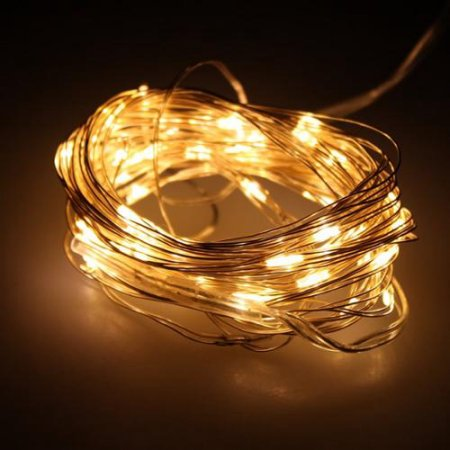AGPtek 16.5FT 50 Individual LED String Lights Waterproof Ultra Thin Copper Wire Starry Light For Wedding Party