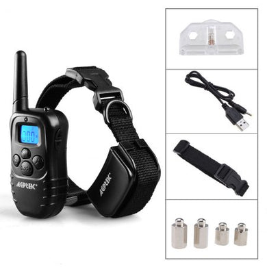 AGPtek Rechargeable LCD Remote Control Dog Training Collar with 100LV of Shock and Vibration