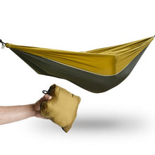 ODOLAND Lightweight Portable Nylon Camping Hammock for Backpacking Travel Hammock Straps & Steel Carabiners Included