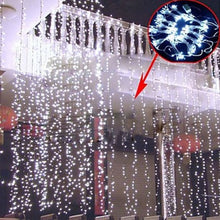 AGPtek 6Mx3M Linkable Fairy Curtain Lights Strings Connectable Lights 8 Lighting Modes