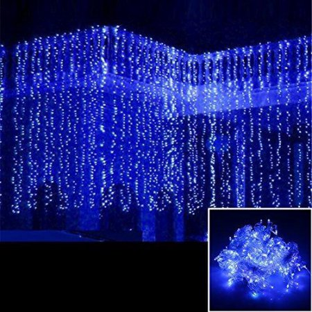 AGPtek 12Mx3M Linkable Fairy Curtain Lights Strings Connectable Lights 8 Lighting Modes
