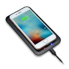 Wireless Charger Charging Pad + Receiver Kit + Adapter For iPhone & Samsung