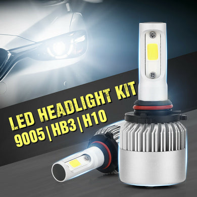 2PCS 560W 67200LM HB3 9005 COB LED Headlight Kit Bulbs 6500K Single High Beam